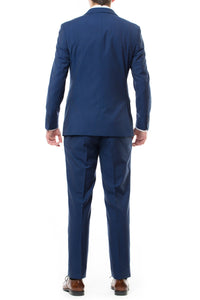 Rear View Of French Blue LDS Missionary Suit