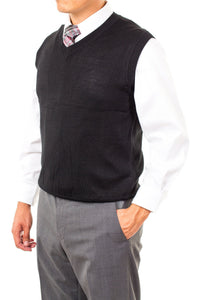 V-Neck Missionary Sweater Vest Black by CTR Clothing - The Kater Shop - 1