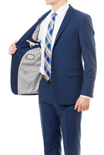 Stylish French Blue LDS Missionary Suit In Slim Fit