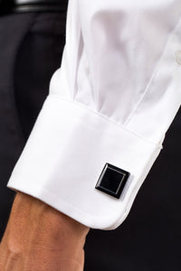 Cuff Links On Boy's Athletic Fit LDS Dress Shirt
