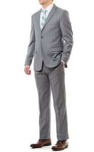 Lightweight LDS Missionary Suit With Slim Fit In Light Grey