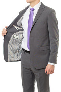 A Stylish Slim Fit LDS Missionary Suit In Charcoal By CTR Clothing