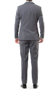Back View Of Our Durable Slim Fit Charcoal Missionary Suit