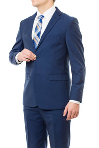 Durability With The Temp Slim Fit Mormon Suit in French Blue