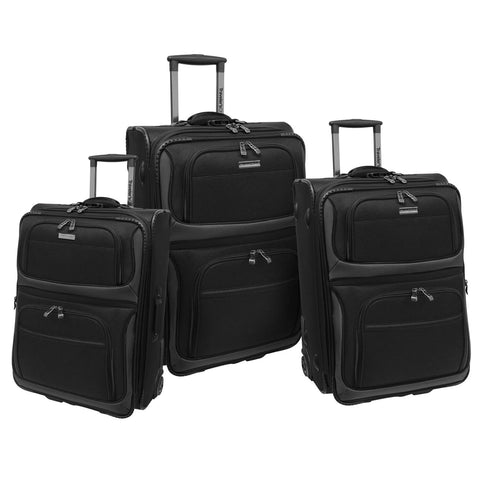 Traveler's Choice Conventional II Luggage (3 Piece Set)