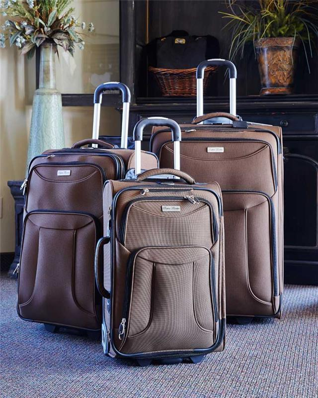 Perfect Traveler Taupe 3 Piece Missionary Luggage Set - The Kater Shop