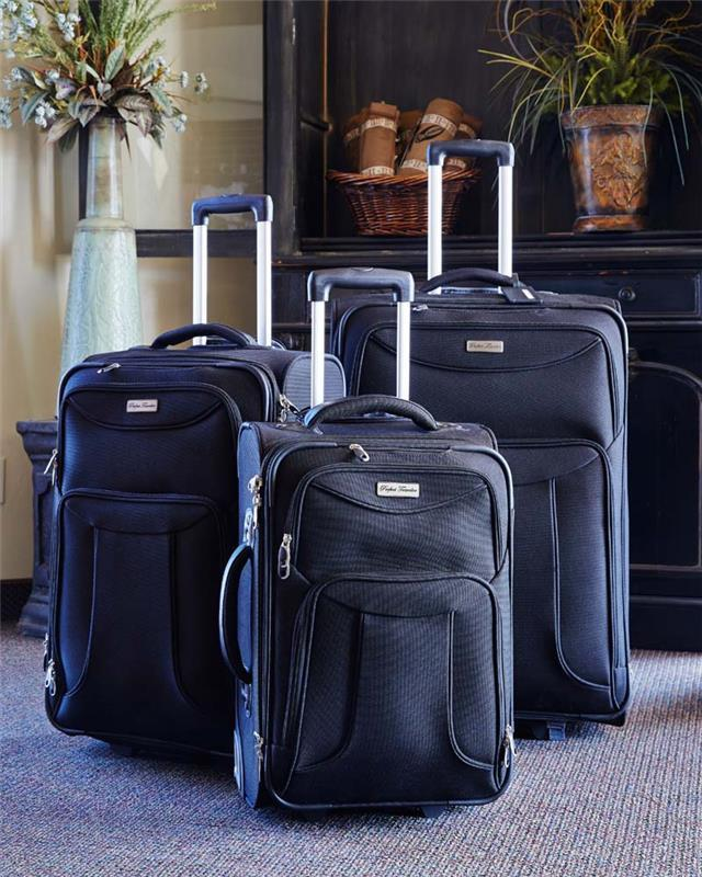 Perfect Traveler Black 3 Piece Luggage Set by CTR Clothing - The Kater Shop