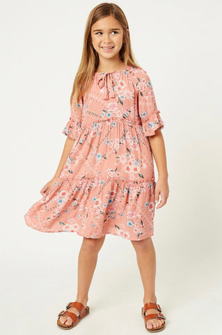 Floral Tie-Strap Tunic Dress