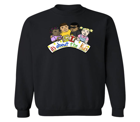 Clayton Thomas It's About The Kids Crewneck Sweatshirt