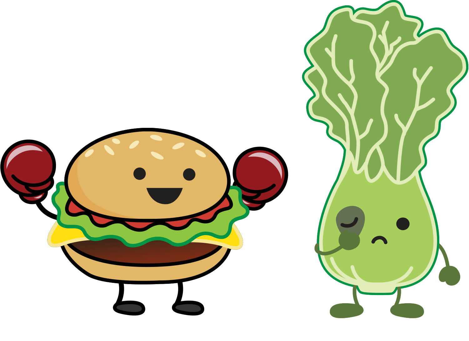 Burger vs Salad Tee