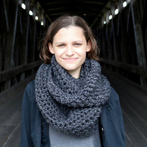 Two Seaside Babes 2019 Fall Collection - Charcoal Gray Infinity Scarf