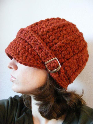 Pumpkin spice buckle beanie winter hat by Two Seaside Babes