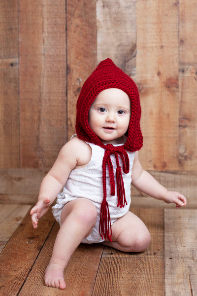Red wine pixie elf hat