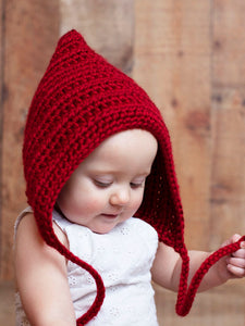 Red wine pixie elf hat by Two Seaside Babes