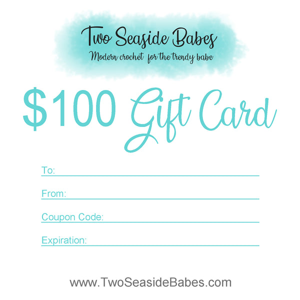 $100 Two Seaside Babes Gift Card