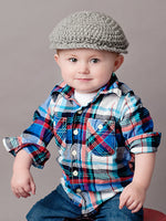 2T to 4T Gray | Irish wool Donegal newsboy hat, flat cap, golf hat | newborn, baby, toddler, boy, & men's sizes by Two Seaside Babes