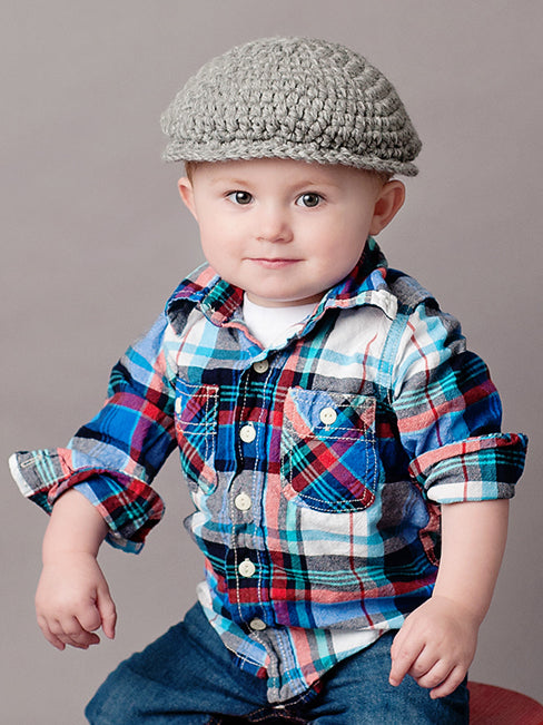 2T to 4T Gray Irish Donegal Newsboy Hat by Two Seaside Babes