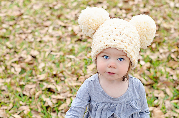 16 colors giant pom pom winter hat
