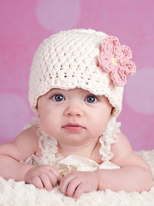 Design your own custom flapper beanie flower hat | 34 colors available