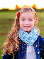 1T to 4T Toddler Sky Blue Button Scarf by Two Seaside Babes