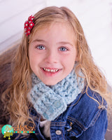 1T to 4T Toddler Sky Blue Button Scarf
