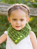Green Grass Button Scarf