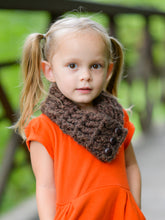 1T to 4T Toddler Dark Brown Wood Button Scarf by Two Seaside Babes