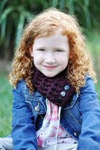 1T to 4T Toddler Red Wine Button Scarf