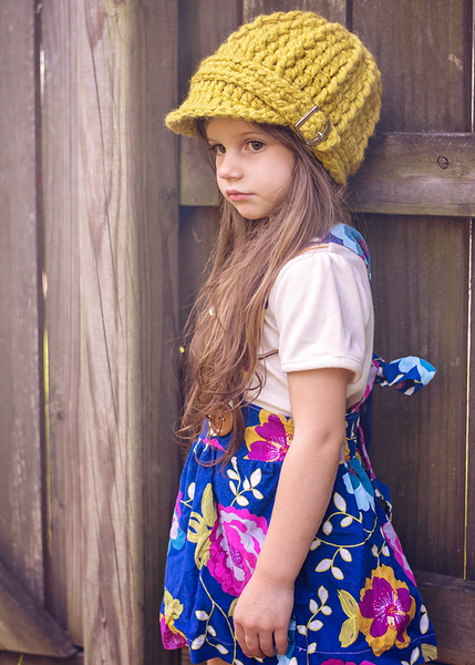 Yellow citron buckle beanie winter hat