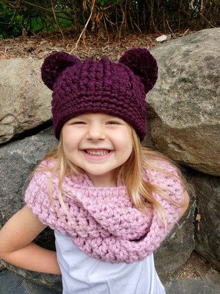 32 colors double pom beanie winter hat