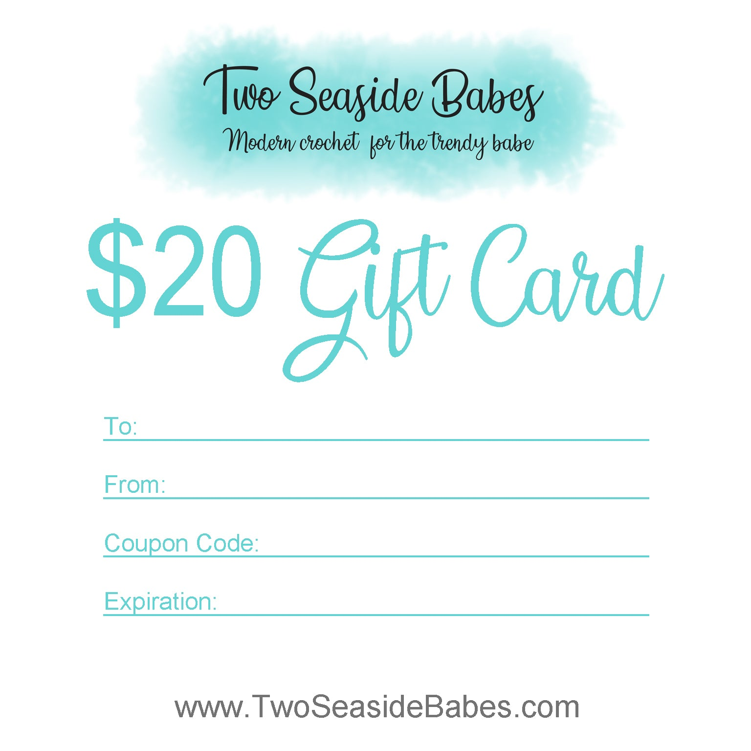 $20 Two Seaside Babes Gift Card