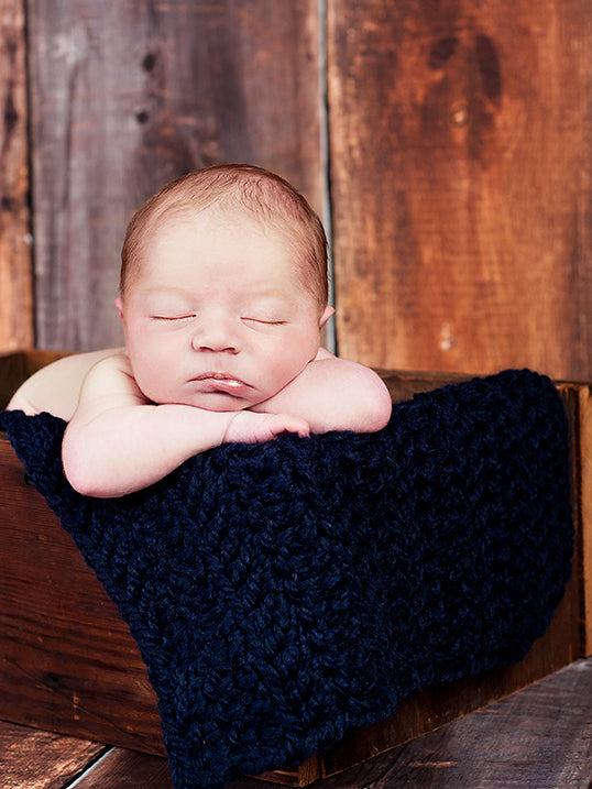 Navy Blue | newborn photo prop layering baby blanket, basket stuffer, bucket filler by Two Seaside Babes