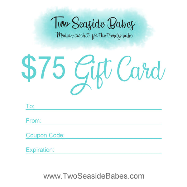 $75 Two Seaside Babes Gift Card