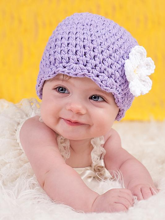 Lavender flapper beanie hat | 32 flower colors available by Two Seaside Babes