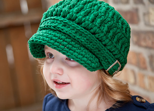 2T to 4T Emerald Green Buckle Newsboy Cap