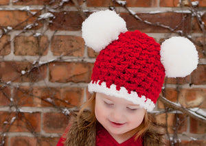 2T to 4T Toddler Santa hat | Christmas hat | Red & White pom pom