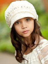 4T to Preteen Cream Buckle Newsboy Cap