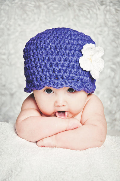 32 colors custom flapper beanie flower hat