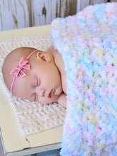 "33"" x 33"" White Pastels Terry Cloth Baby Blanket by Two Seaside Babes"
