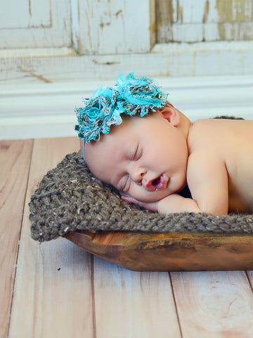 Barn Wood Brown | newborn photo prop layering baby blanket, basket stuffer, bucket filler by Two Seaside Babes