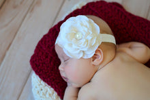 Cranberry Red & Cream | newborn photo prop layering baby blanket, basket stuffer, bucket filler