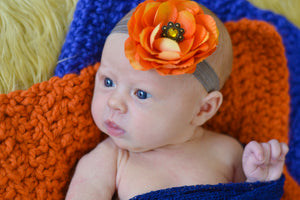 Orange Pumpkin Itty Bitty Baby Blanket