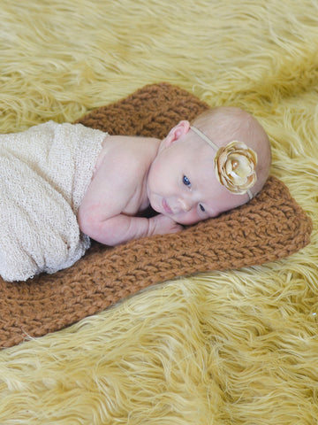 Hazelnut | newborn photo prop layering baby blanket, basket stuffer, bucket filler by Two Seaside Babes