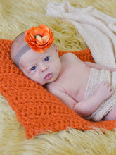 Orange Pumpkin Itty Bitty Baby Blanket by Two Seaside Babes