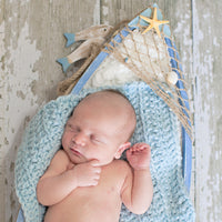 Sky Blue | newborn photo prop layering baby blanket, basket stuffer, bucket filler