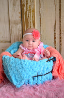 "33"" x 33"" Aqua Blue 