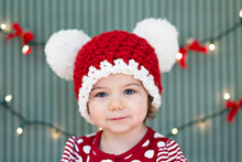 1T to 2T Toddler Santa hat | Christmas hat | Red & White pom pom