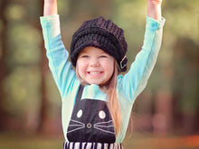 4T to Preteen Kids Black Buckle Beanie