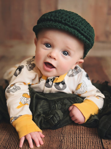 Pine Irish wool newsboy hat by Two Seaside Babes
