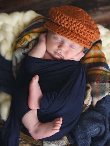 Pumpkin Irish wool newsboy hat by Two Seaside Babes